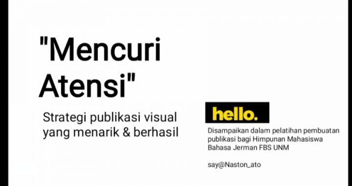 HMPS DEUTSCH HELAT PELATIHAN DESAIN GRAFIS BAHAS STRATEGI PUBLIKASI VISUAL