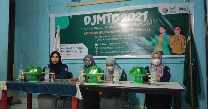 KABID DIKLAT HMJ BIOLOGI RESMI BUKA DJMTD 2021 LPM BIOMA