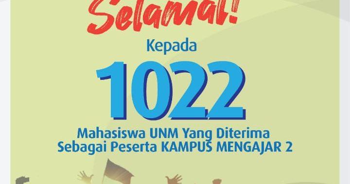 SEBANYAK 1022 MAHASISWA UNM LOLOS KAMPUS MENGAJAR 2, SIGNIFIKAN TINGKATKAN IKU UNM