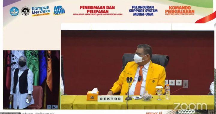 REKTOR UNM SAMBUT DAN LEPAS MAHASISWA PESERTA MERDEKA BELAJAR